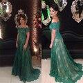2016 Plus Size Bainha Apliques vestido de Noite do baile de Finalistas Vestidos Sheer Vestido de Festa Do Laço Plissado Mãe dos Vestidos de Noiva