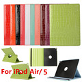 Tablet Cases for iPad Air 1 Case  360 Rotation PU Leather Crocodile Case for iPad 5 Smart Cover Flip Case With Stand Function
