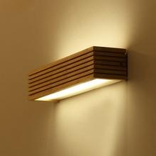 Современный японский светодио дный светодиодный дубовый деревянный настенный светильник для спальни ванная комната Домашний настенный светильник из цельного дерева настенный светильник