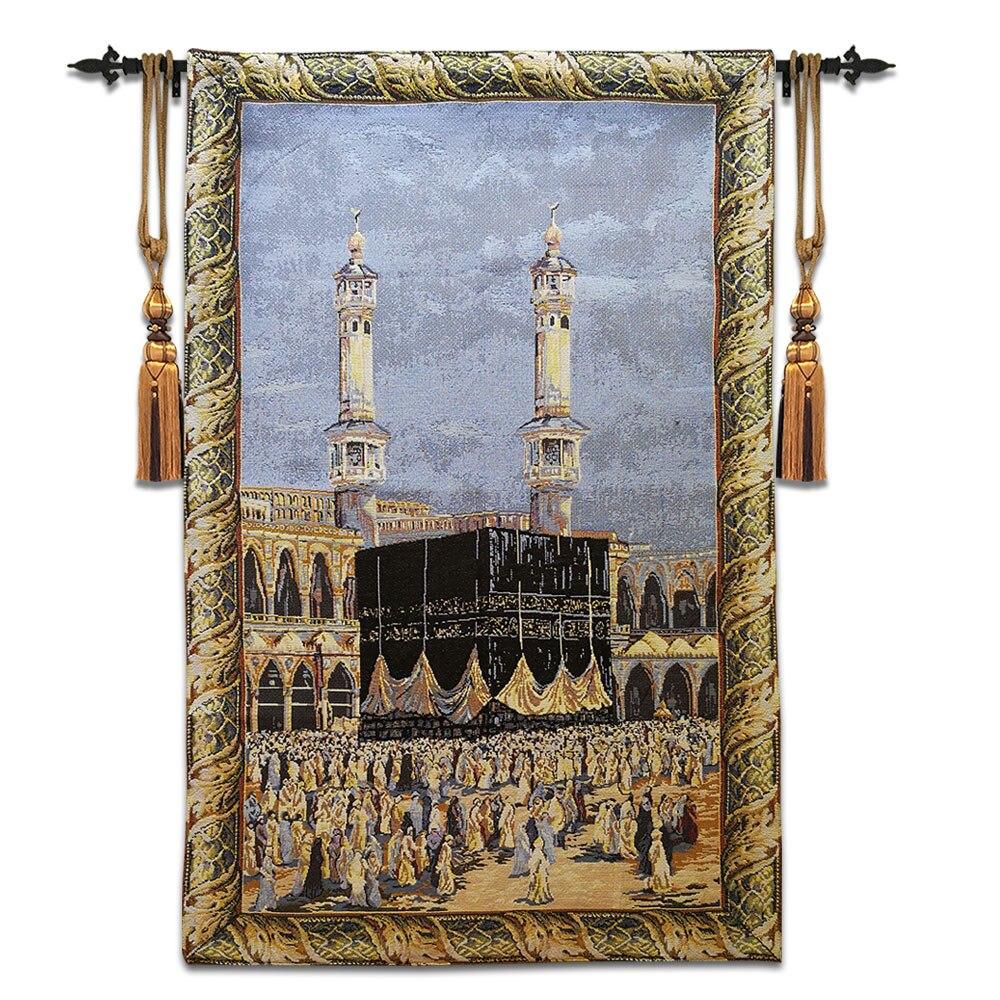 65x102 cm decorazione della parete di casa medio oriente pellegrinaggio affreschi Islam Arabo culto pellegrinaggio Mecca arazzo arazzi ST-17