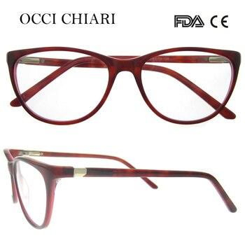 OCCI CHIARI 2018 Fashion Design Spring Hinge Women Acetate Clear Lens Optical Eye Glasses Frames Spectacles girls W-CERIOLI