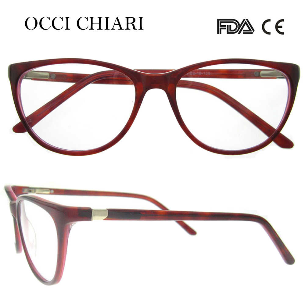 59ea8c0d678 OCCI CHIARI 2018 Fashion Design Spring Hinge Women Acetate Clear Lens Optical  Eye Glasses Frames Spectacles