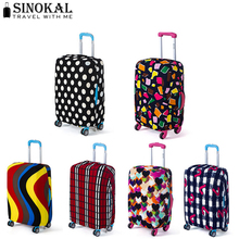 Case on Suitcase for Travel Luggage Protective Covers Suitcase Luggage Cover Elastic Cover for 18-32 inch Suitcase (Cover Only)