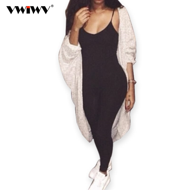 VWIWV 2018 Summer New Arrival Regular Casual Fashion V-Neck Sexy Rompers Womens Jumpsuit for Women 6 Colors Jumpsuit 7160