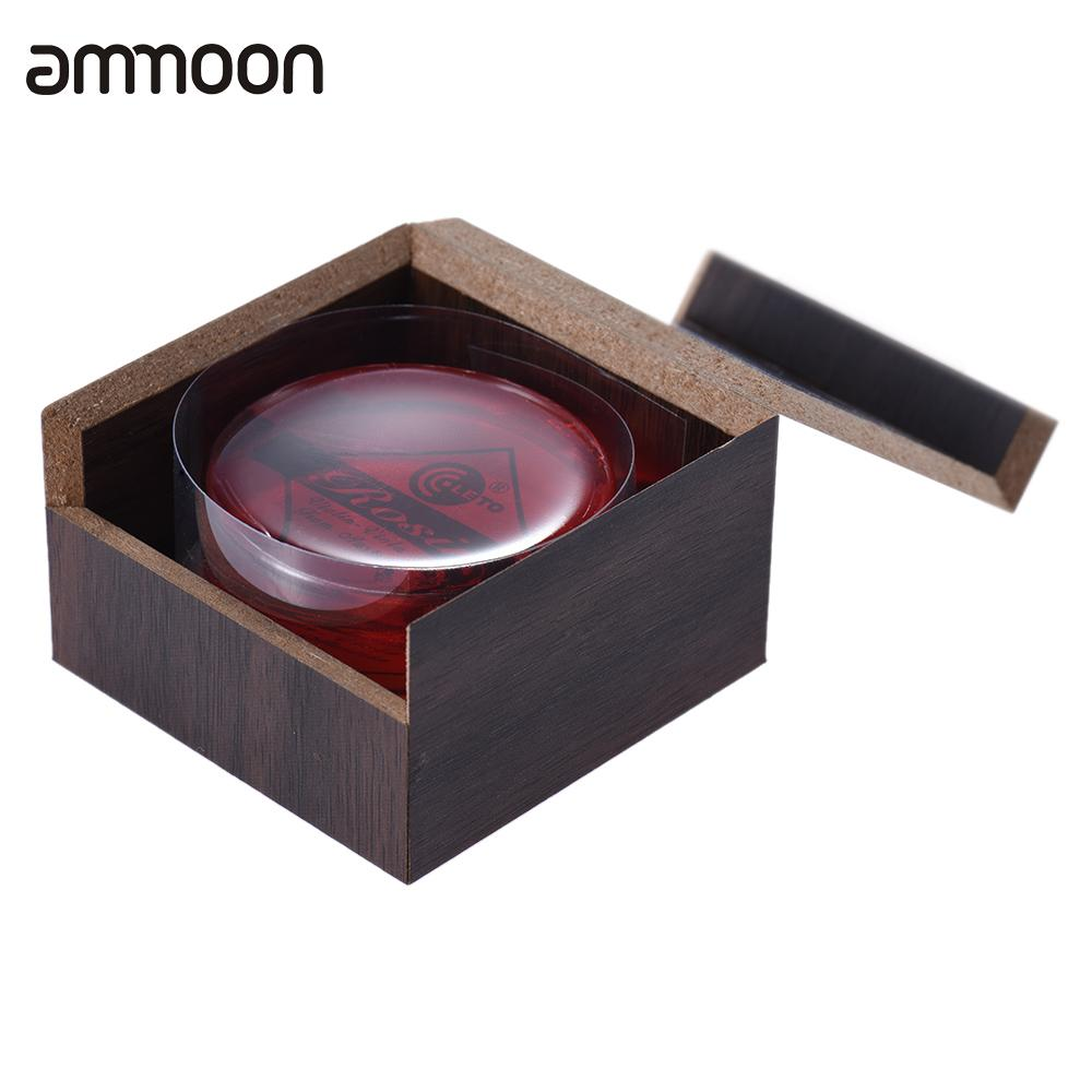 High-Class Transparent Red Resin Rosin Colophony Low Dust Handmade Rounded With Wooden Box Universal For Violin Viola Cello Erhu