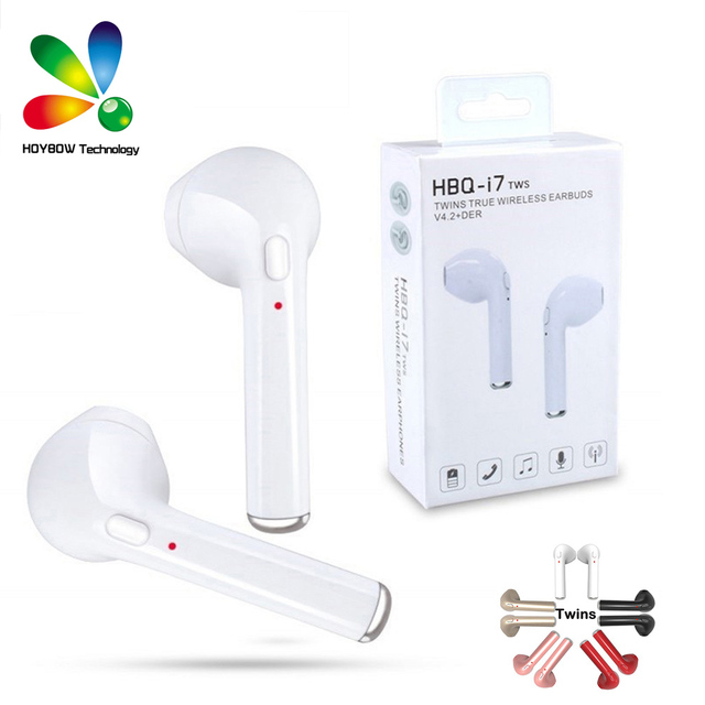 fef06db411c 10pcs/Lot Original HBQ i7 TWS Twins True Wireless Earbuds Earphone Mini  Bluetooth V4.