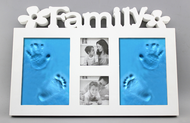 DIY Dust proof glass photo frame with 400g inkpad hand baby hand and ...