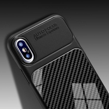 Carbon Fiber Case for iphone X 7 8 plu XS 10 Luxury Case Soft TPU Silicone Cover for iphone 6S 6 plus Coque for phone XS Max XR carbon fiber leather coated soft tpu case shell for iphone 6s 6 4 7 inch dark blue