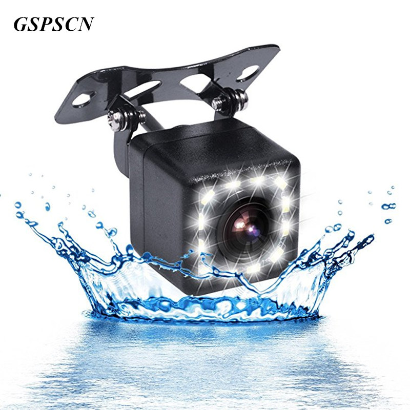 GSPSCN Car Rearview Camera Waterproof Car Back Reverse Camera LED Night Vision Parking Assistance Cameras 170 Degree Wide Angle eagleyes ec th1029 1 4 ccd 170 wide angle car rearview camera w night vision black dc 12v