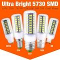 25w 20w 15w 72/69/56 Leds New year Festival LED corn bulb 5730SMD LED lights 110V 220V E27 B22 GU10 GU9 E14 lamp Cold Warm White