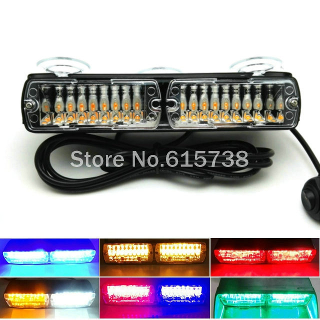 16 LED flash light 24W 16Led Red blue flash strobe Emergency EMS Police Warning light Flashing firemen Led lights in Car тетрадь 48л а5 линия природа nature scences