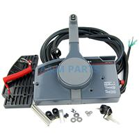 Outboard Remote Control Box For Yamaha Boat Engine Right Side Mount With 10 Pin Cable PULL