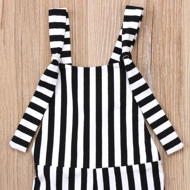 1fad2b4f921 placeholder 2018 Kids Baby Girl Stripe Bell-Bottom Bib Brace Pants Overalls  Striped Romper Jumper Fashion