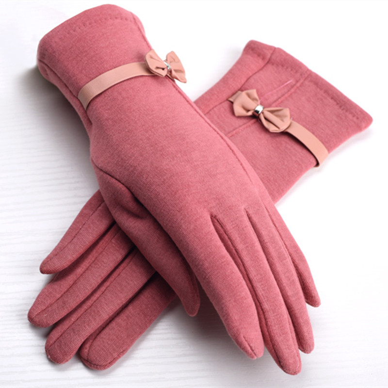 Winter Women Gloves Thicken Warm Thermal Mittens Non-slip Fleece Gloves Outdoor Riding Cycling Skiing Solid Female Gloves