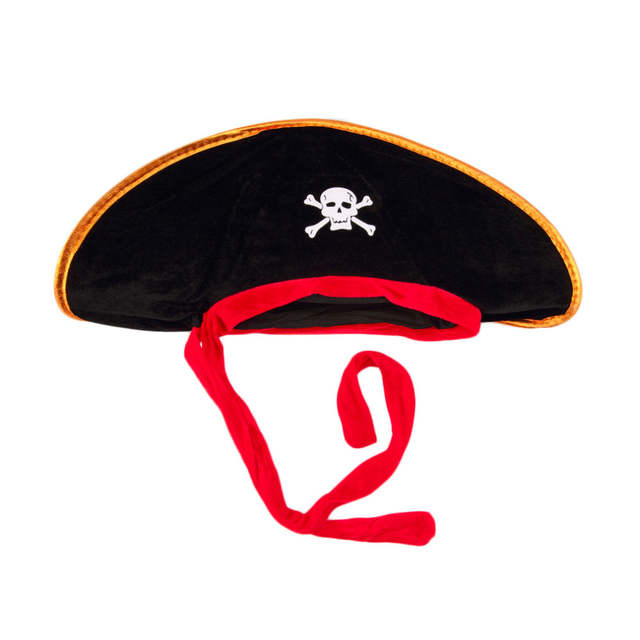 placeholder Halloween Accessories Skull Hat Caribbean Pirate Hat Skull  Piracy Cap Corsair Cap Party Supplies Costume Fancy b9bb7d38b203