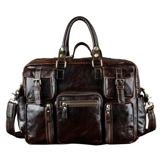 6cab024545 Leather Heavy Duty Mens Best Professional Travel Briefcase Business  Portfolio Organizer Laptop Tote Shoulder Messenger Bag