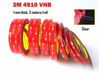 VHB 1 0mm Thick 3M 4910 Clear Double Sided Acrylic Foam Tape Replace Rivets Spot Welds
