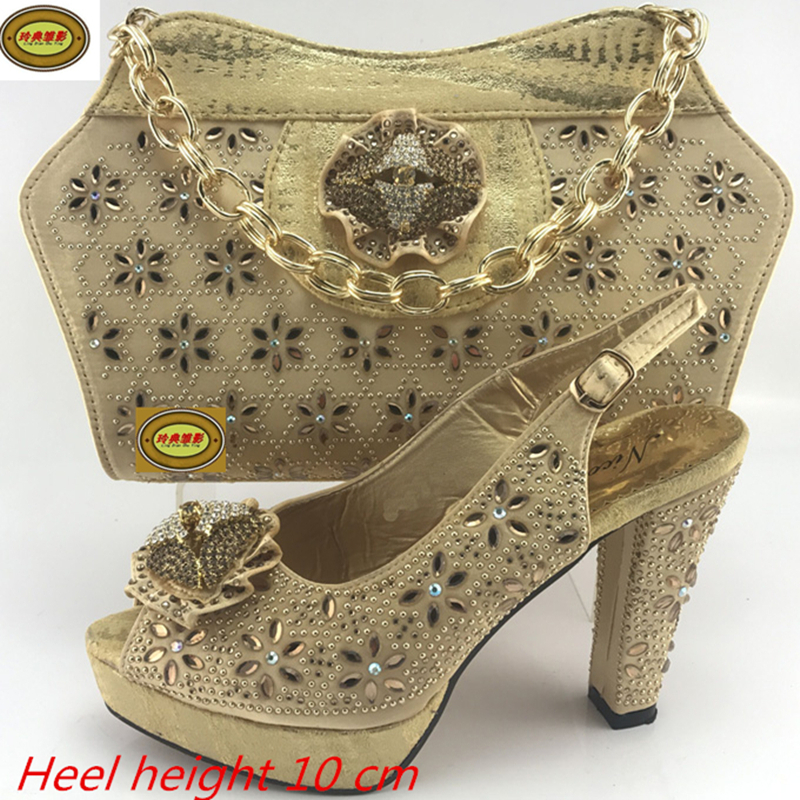 ME7713-2 High Class Elegant Italian Shoes and Bag Set Wholesale Fashion European Ladies Shoes And Bags Sets With Stones 505 7 1 silver beautiful design european ladies shoes and bags sets high quality italian shoes and bag set free shipping