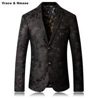 European style business leisure large size stage boutique blazer masculino New arrival 2017 top quality wash and wear blazer men