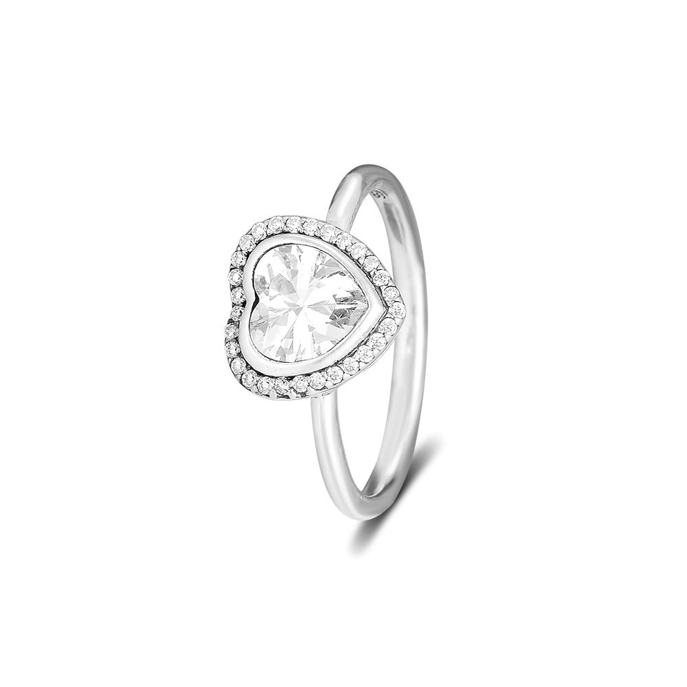 CKK Срібло 925 ювелірне серце блискучі - Вишукані прикраси