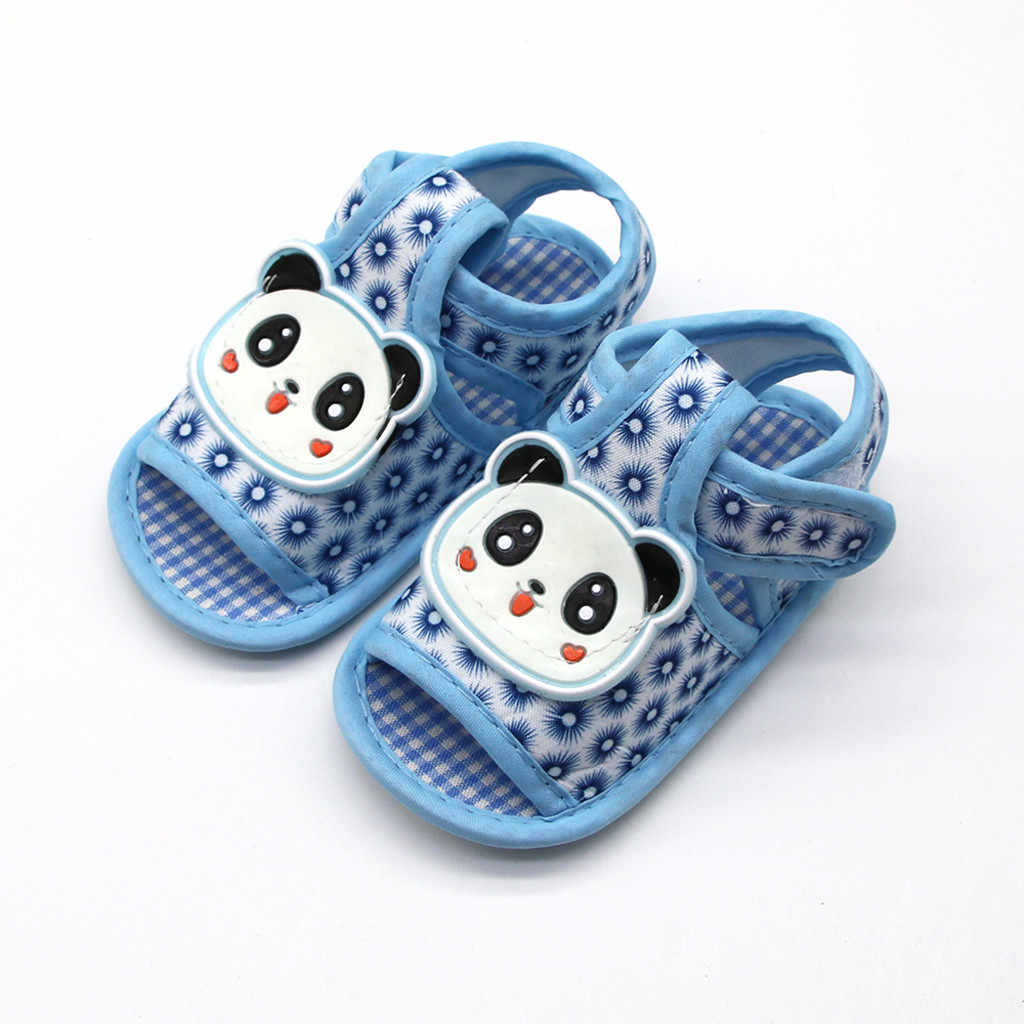 SAGACE Cartoon Print Hook Loop Sandals Prewalker Shoes For 0-18M Kids Boy Girl Baby Shoes Casual Girls Sport Soft Sole Shoes