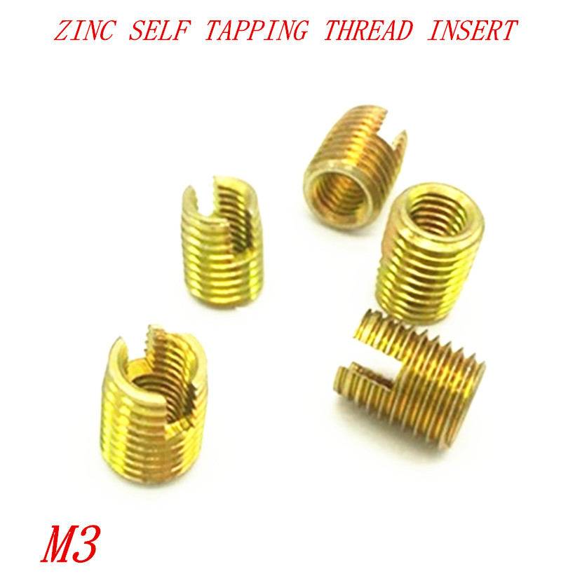 20pcs M3 Steel With Zinc Self Tapping Thread Insert