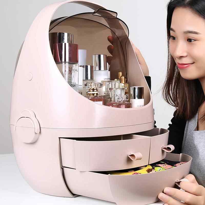 2019 เครื่องประดับเครื่องสำอางค์กล่องห้องน้ำแต่งหน้าลิปสติก Skin Care Manager ลิ้นชักเก็บอุปกรณ์ห้องน้ำ