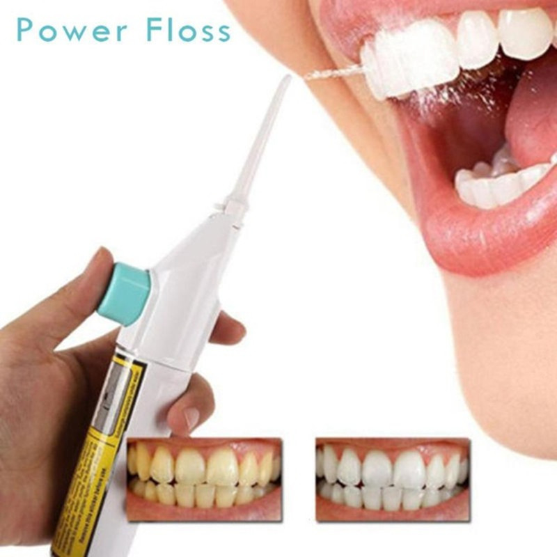 Dental Flusher Eater Powered Water Jet Cleaning Tooth Pick Floss Air Teeth Massager 1