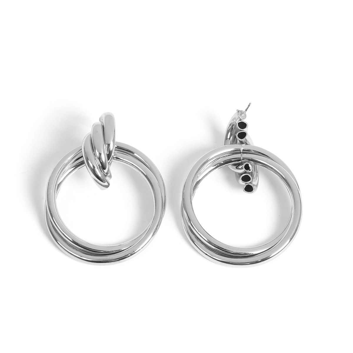 f7db65c1b ... 50 MM Big Gold Hoops Earrings Minimalist Thick Tube Round Circle Rings  Earrings For Women Zinc ...