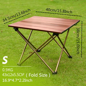 Image 2 - VILEAD Portable Folding Camping Table Aluminium Alloy Ultra light Picnic BBQ Traveling Outdoor Waterproof Foldable Durable Desk