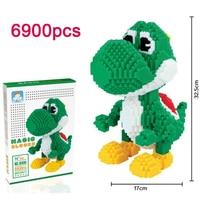 DOLLRYGA 6900pcs Diamond Micro Block Huge Cartoon Character Gear Toys for Children Juguetes Large Educational LOZ Diamond Bricks