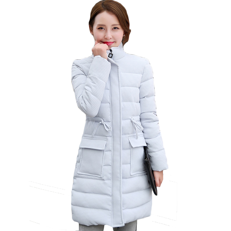 2017 new autumn and winter womens down jackets long cotton padded jackets...