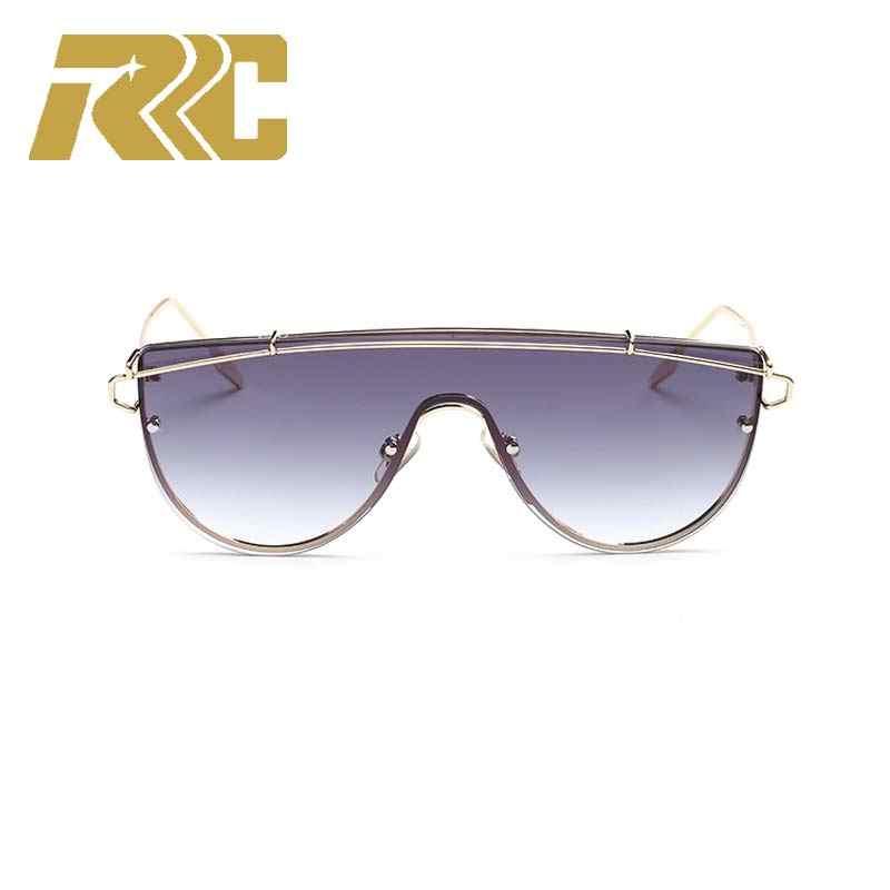 c9ba0c1971 RRC Luxury Vintage Rimless Sunglasses Women Large Frame Fashion Brand  Designer Oversized Retro Female Sunglass