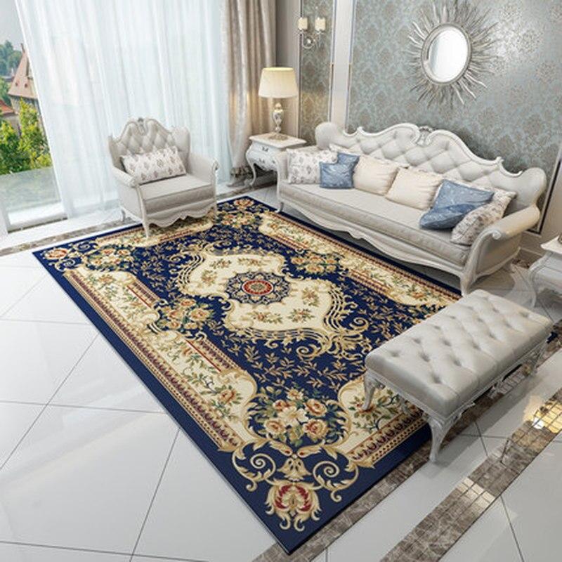 Offre spéciale! Tapis de Style européen exquis motif délicat couverture de chevet grands tapis salon chambre hôtel tapis de sol