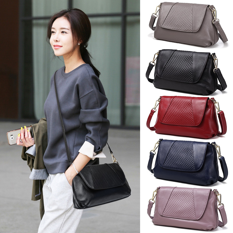 First Layer Genuine Leather Women Handbags Ladies Real Top Layer Casual Leather Female Ladies Messenger Bag Hobo Satchel