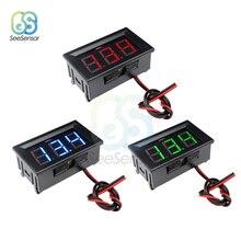 AC 70-500V DC 4.5V to 30V 0.56 LED Digital Voltmeter Voltage Meter Volt Instrument Tool 2 Wires Red Green Blue Display DIY