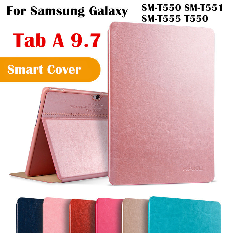 KAKU Magent Flip Cover For Samsung Galaxy Tab A 9.7 SM-T550 SM-T551 SM-T555 T550 Tablet Case Smart Cover Protective shell