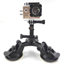 Fat Gecko Stealth Gunung Tiga 5.7 Cm Kaki Suction Cup Untuk GOPRO HERO 7/6/5/4 /3/3 +/2 SJCAM SJ4000 SJ5000 Xiaomi Yi Action Camera(China)