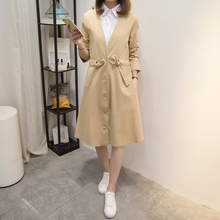 YICIYA womens khaki trench coats 2019 plus size large 4xl 5xl oversize winter outerwear clothes runway slim bodycon long elegant