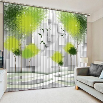 Customized size Luxury Blackout 3D Window Curtains For Living Room box curtains Decoration curtains Dandelion curtain