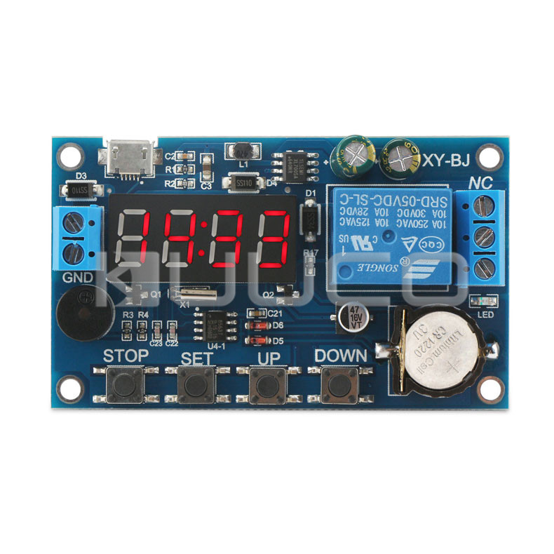 Relay Module 5.0V~60V Real Time Relay Time Control Switch 24H Timing Control Clock Synchronization Time Control Delay Module new dc5v 12v 24v sound sensor light control relay switch time delay turn off module g205m best quality