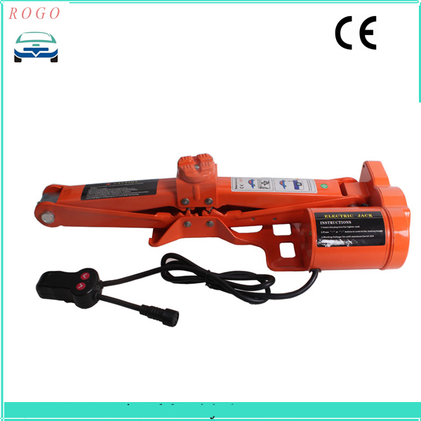 fast  shipping single electric scissor jack with 3 tons lifting weight for both suv and sedan