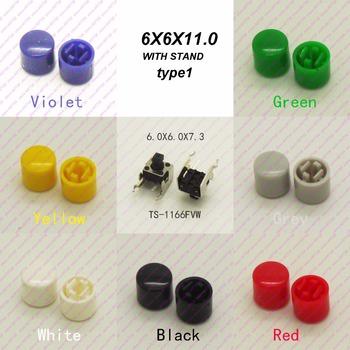 10 sztuk 6X6X7 3MM z Cap Dia 6 6mm poziome chwilowy takt bluzka z guzikami kwadratowych głowy taktyczne klucze przełącznik mini przycisk tanie i dobre opinie CN (pochodzenie) ROHS Przełączniki 1year TS-1166FVW Horizontal Przełącznik Wciskany