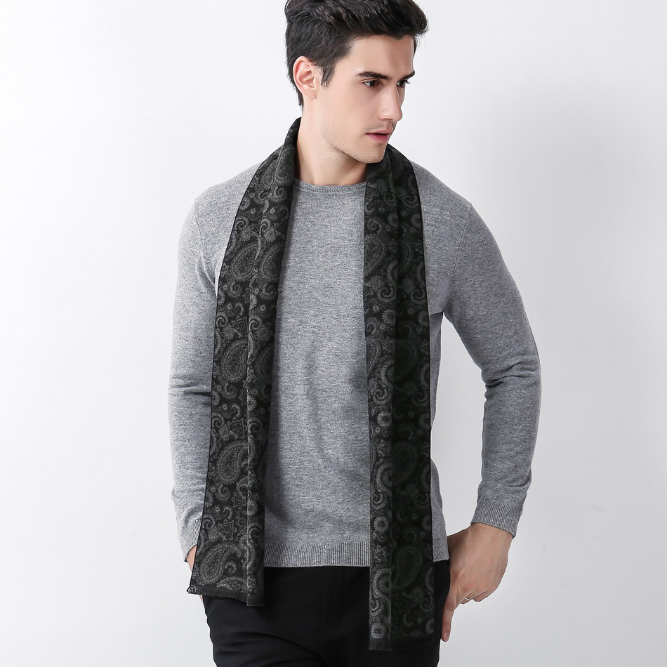 Luxury Brand Designer Men Classic Winter Scarf Warm Soft Tassel Shawl Wrap Sick Scarf Me ...