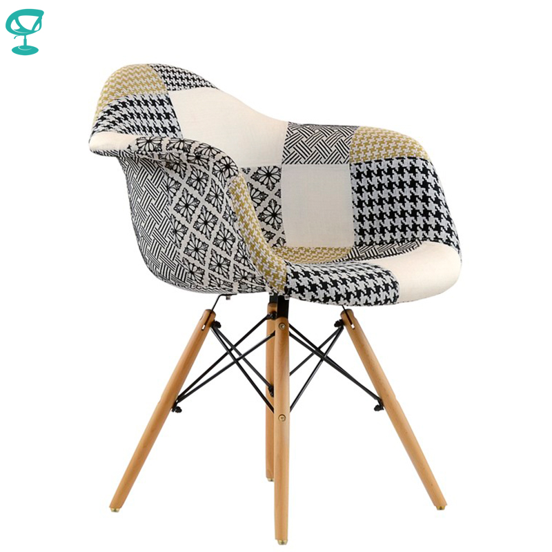 95234 Barneo N-14 Fabric Patchwork Kitchen Breakfast Interior Stool Bar Chair Kitchen Furniture Free Shipping In Russia