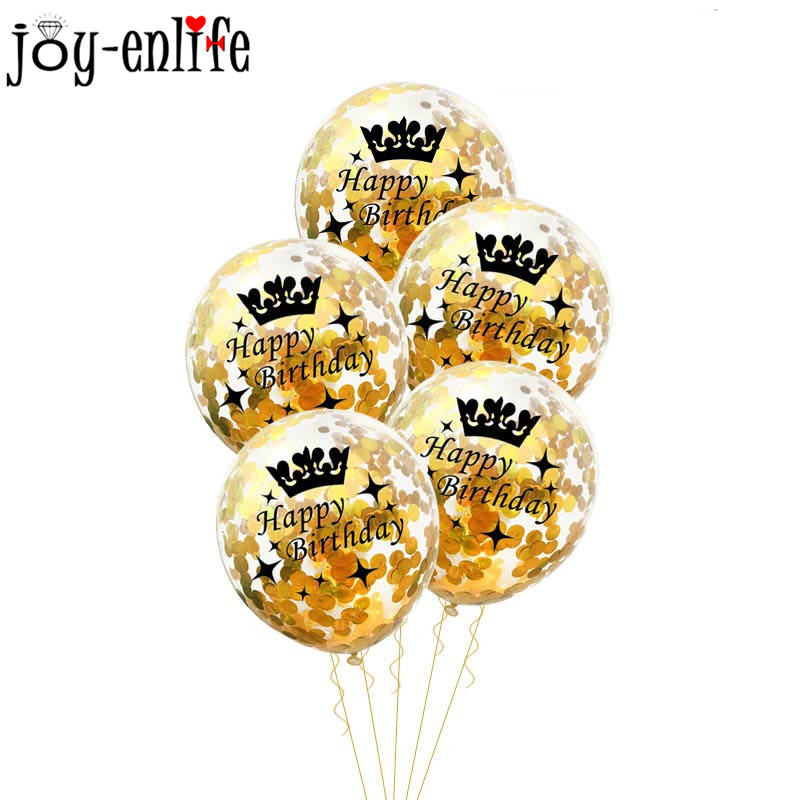 Image 3 - Birthday Party Decorations Adult 5pcs 30/40/50th Happy Birthday Confetti Balloons Rose Gold Tassels Anniversary Party Supplies-in Ballons & Accessories from Home & Garden