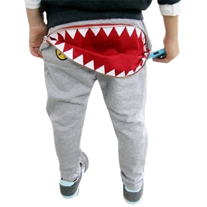 2017 Cute Baby Kids Boys Girls Zipper Design Casual Harem Pants Toddler Loose Trousers color splicing inclined zipper beam feet harem pants