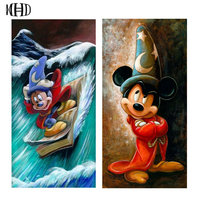 Full Square Round DIY Diamond Painting Mickey Mouse 3D Diamond Embroidery Crystal Mosaic 5D Diamond Decoration