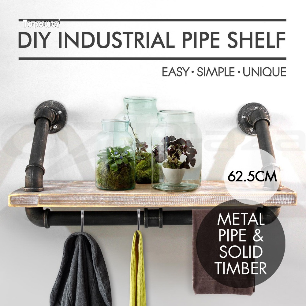 SHIP FROM USA Industrial French Country Style Decorative Pipe Wooden Wall  Shelves In Wind Chimes U0026 Hanging Decorations From Home U0026 Garden On  Aliexpress.com ...