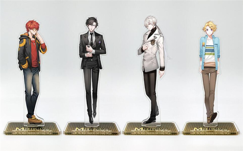 Anime Cartoon Mystic Messenger Zen Jumin 707 Yoosung Acrylic Stand Figure Gift Halloween Cosplay Keychain Stand Figure Christmas